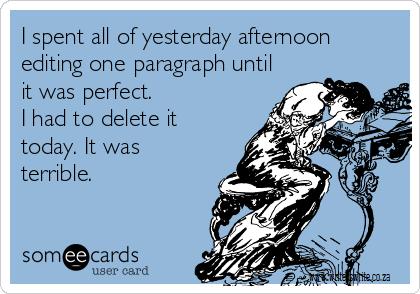 paragraph editing