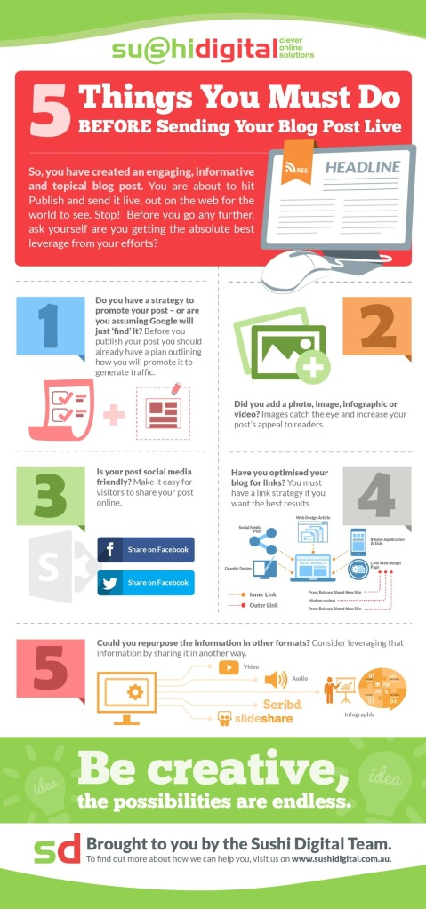 Infographic from http://socialmediatoday.com/irfan-ahmad/2349236/5-things-check-publishing-your-blog-post-infographic