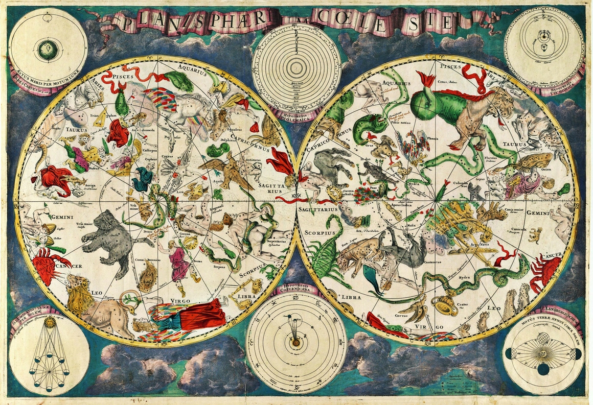 New pearseus map and a 17th century map of the skies nicholas c map of the skies by frederik de wit from the blog of nicholas c gumiabroncs Gallery