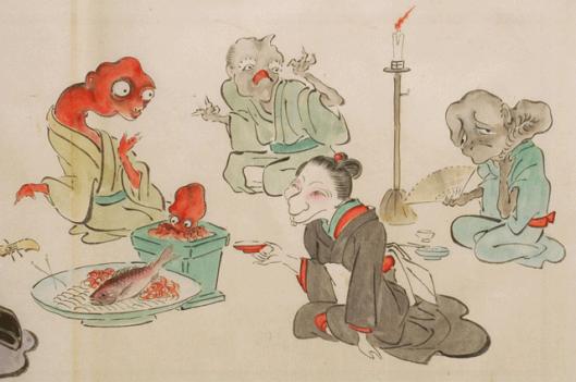 japanese-supernatural-creatures-yokai-marriage